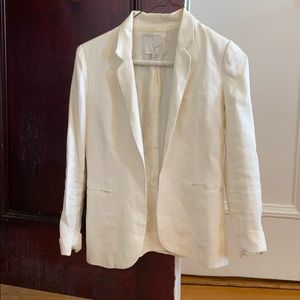 Joie white linen blazer